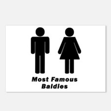 Most Famous Baldies Postcards (Package of 8)