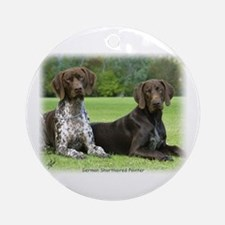 German Shorthaired Pointer 9J37D-09 Ornament (Roun