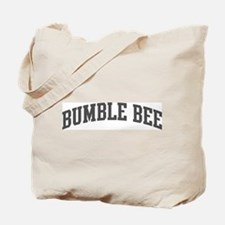 Bumble Bee (curve-grey) Tote Bag