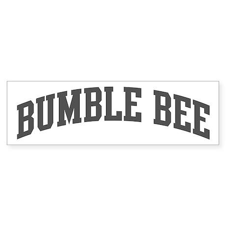 Bumble Bee (curve-grey) Bumper Sticker (10 pk)