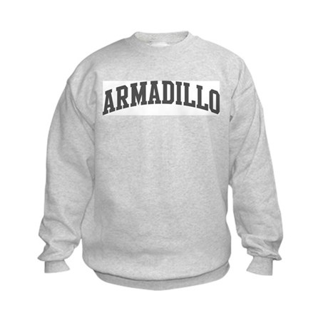 Armadillo (curve-grey) Kids Sweatshirt