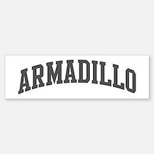 Armadillo (curve-grey) Bumper Bumper Bumper Sticker