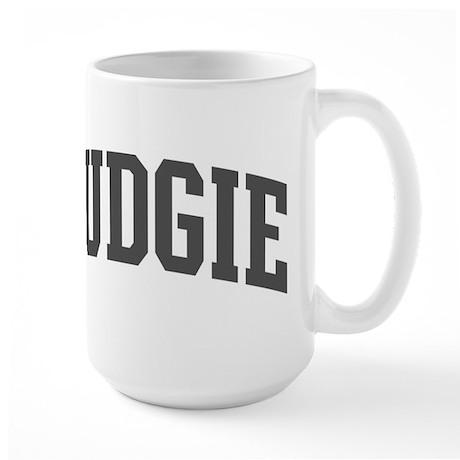 Budgie (curve-grey) Large Mug