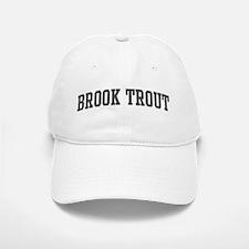 Brook Trout (curve-grey) Baseball Baseball Cap