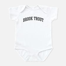 Brook Trout (curve-grey) Infant Bodysuit