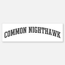 Common Nighthawk (curve-grey) Bumper Bumper Bumper Sticker