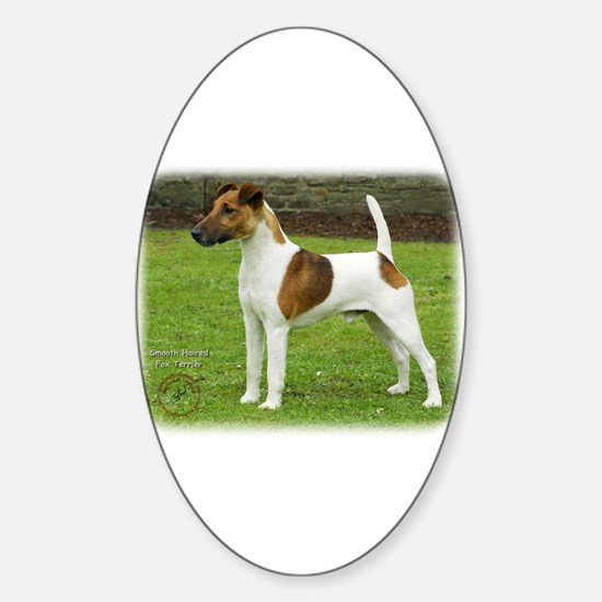 Fox Terrier 9T072D-126 Sticker (Oval)