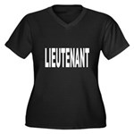 Lieutenant Women's Plus Size V-Neck Dark T-Shirt