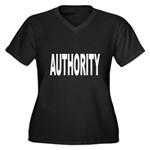 Authority Women's Plus Size V-Neck Dark T-Shirt