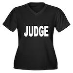 Judge Women's Plus Size V-Neck Dark T-Shirt
