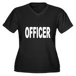 Officer Women's Plus Size V-Neck Dark T-Shirt