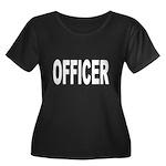 Officer Women's Plus Size Scoop Neck Dark T-Shirt