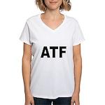 ATF Alcohol Tobacco & Firearm Women's V-Neck T