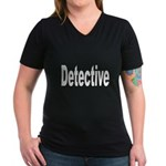 Detective Women's V-Neck Dark T-Shirt