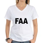 FAA Federal Aviation Administ Women's V-Neck T-Shi