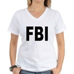 FBI Federal Bureau of Investi Women's V-Neck T-Shi