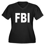 FBI Federal Bureau of Investi Women's Plus Size V-