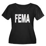 FEMA Women's Plus Size Scoop Neck Dark T-Shirt
