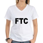 FTC Federal Trade Commission Women's V-Neck T-Shir