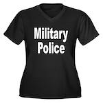 Military Police Women's Plus Size V-Neck Dark T-Sh