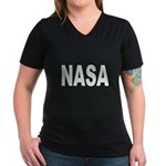 NASA Women's V-Neck Dark T-Shirt