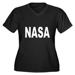 NASA Women's Plus Size V-Neck Dark T-Shirt