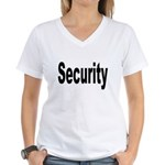Security Women's V-Neck T-Shirt