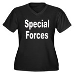 Special Forces Women's Plus Size V-Neck Dark T-Shi
