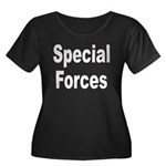 Special Forces Women's Plus Size Scoop Neck Dark T