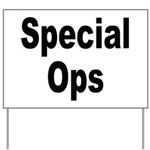 Special Ops Yard Sign