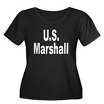 U.S. Marshall Women's Plus Size Scoop Neck Dark T-