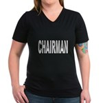 Chairman Women's V-Neck Dark T-Shirt
