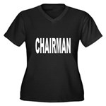 Chairman Women's Plus Size V-Neck Dark T-Shirt