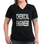 Chemical Engineer Women's V-Neck Dark T-Shirt