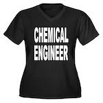 Chemical Engineer Women's Plus Size V-Neck Dark T-