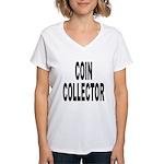 Coin Collector Women's V-Neck T-Shirt