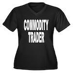 Commodity Trader Women's Plus Size V-Neck Dark T-S