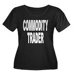 Commodity Trader Women's Plus Size Scoop Neck Dark