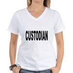 Custodian Women's V-Neck T-Shirt