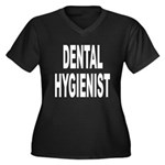 Dental Hygienist Women's Plus Size V-Neck Dark T-S