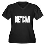 Dietician Women's Plus Size V-Neck Dark T-Shirt