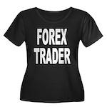 Forex Trader Women's Plus Size Scoop Neck Dark T-S