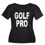 Golf Pro Women's Plus Size Scoop Neck Dark T-Shirt