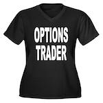 Options Trader Women's Plus Size V-Neck Dark T-Shi