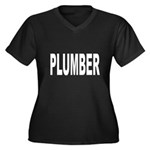 Plumber Women's Plus Size V-Neck Dark T-Shirt