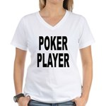 Poker Player Women's V-Neck T-Shirt