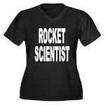 Rocket Scientist Women's Plus Size V-Neck Dark T-S