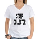 Stamp Collector Women's V-Neck T-Shirt