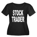 Stock Trader Women's Plus Size Scoop Neck Dark T-S
