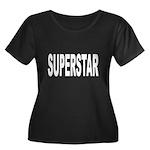Superstar Women's Plus Size Scoop Neck Dark T-Shir